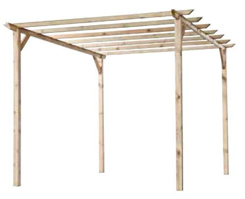 Pergola tettoia in legno 3 x 4 x 2,4 mt.
