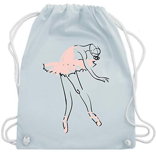 Shirtracer Tanzsport - Balletttänzerin Ballerina - Unisize - Pastell Blau - turnbeutel mädchen - WM110 - Turnbeutel und Stoffbeutel aus Baumwolle