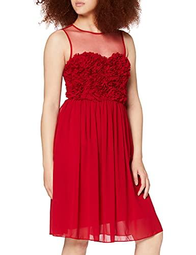 APART Fashion damska sukienka szyfonowa z kwiatami sukienka na imprezę