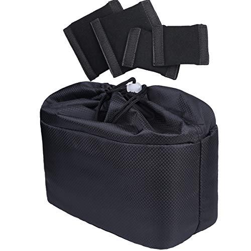 JAKAGO Camera Bag, Gevuld, Divider, Inserts, Beschermhoes Invoegen voor Sony, Canon, Nikon DSLR Camera of Zaklamp (Zwart)