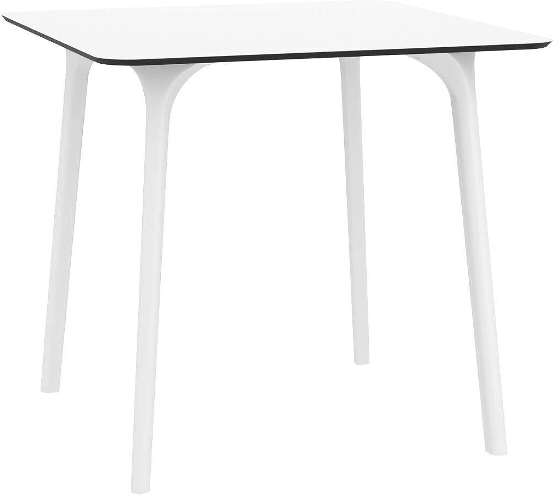 CLP Tisch Maya I witterungsBestendiger und robuster Gartentisch I Wei