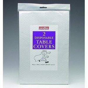 3X wit papier tafelkleden 2 per pak (Caroline){90cm x 90cm}