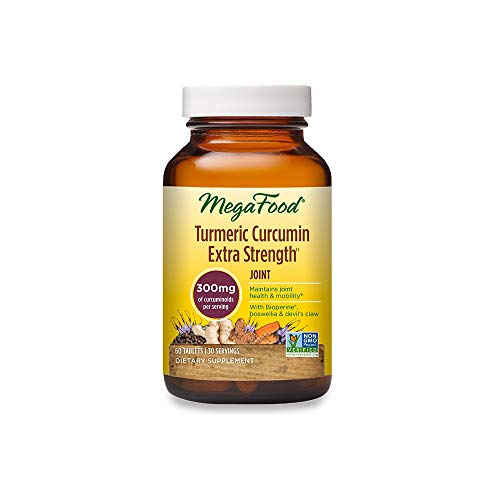 MegaFood, Turmeric Strength for Joint, Maintains Joint Health and Mobility, Vitamin and Herbal Dietary Supplement, Gluten Free, Vegan, 60 Tablets
