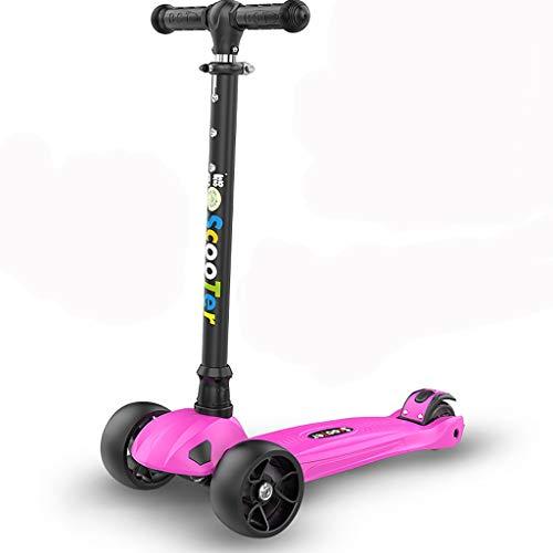 Best Buy! Rff 4-Wheel Kick Scooter for Children Aged 2-14 Using Height Adjustable Detachable LED Lig...