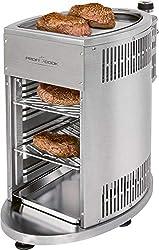 ProfiCook PC-GBS 1178 Beef Grill, 800° Hochleistungsgrill, hochwertiges Edelstahl, Warmhaltefunktion inkl. 2 Grillroste, Fettauffangschale, Gasdruckminderer und Schlauch für DE + AU