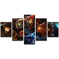Cuadros modulares 5 Paneles Metroid Prime 4 Juego Poster Pintura sobre Lienzo en la Pared Cuadros para Sala 40x60 / 80 / 100cm Sin Marco