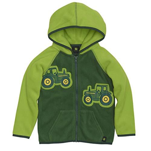 John Deere Boys Tractor Fleece Jacket 2T Lime Green