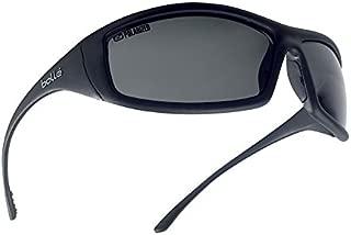 Bollé Safety 253-SS-40065 Solis Safety Eyewear with Shiny Black Nylon + TPR/Polycarbonate Full Frame and Polarized Gray Lens
