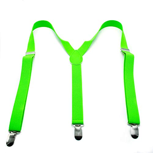 Hosenträger für Herren, Neonfarben Gr. Einheitsgröße, grün