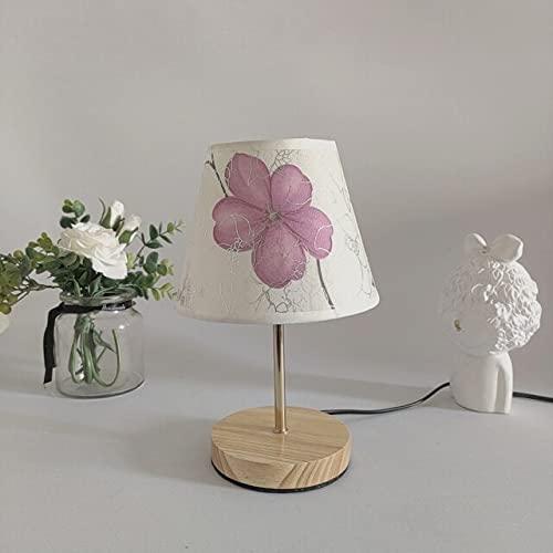 Mesa de lámpara de madera de estilo oriental de Yuki'sNueva Europa Oriental de la habitación con etiqueta de tela Mini Tiffany Night Light