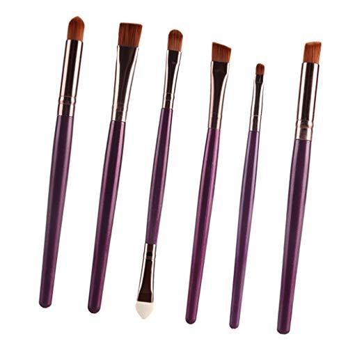 CUTICATE 6pièces Pinceaux Maquillage Cosmétique Professionnel Brush Beauté Maquillage Brosse Makeup - Café pourpre