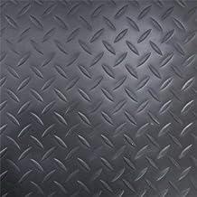 縞鋼板風防滑保護シート 滑り止めシート マット 防滑材 INK-1316001 (ブラック)