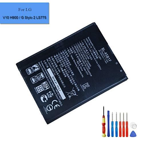 E-yiiviil batería de Ion de Litio Replacement BL-45B1F Compatible para LG V10 Stylo 2 ls775 2900 mAh 3.85V