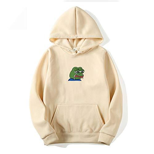 N-N Hoodies Men's Hoodie Graffiti Print Sad Frog Sweatshirt Hip Hop Yellow Pink Men and Women Hooded Suit...