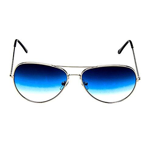 VJGOAL Unisex piloto de moda con lentes espejadas polarizadas Retro gafas de sol con gradiente de espejo clásico