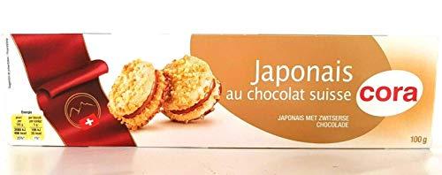 Cora Japonais au chocolat suisse, Kekse mit Schweizer Schokolade aus Frankreich, 100g.