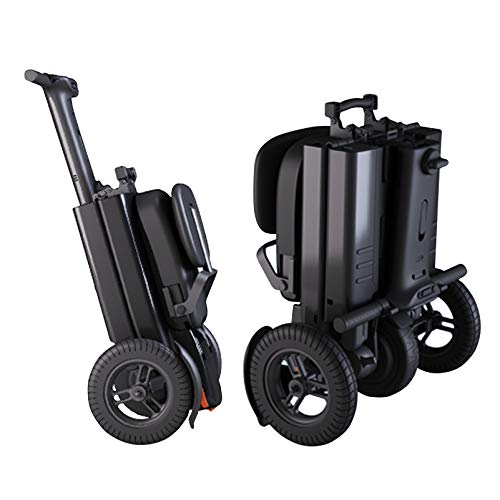 YF-Mirror Scooter Mobility Folding Electric Mobility Scooter 3 Wheel Lightweight Portable Power Travel Scooters - Support 280 lbs Weight, Dual Battery and Motor Long Range