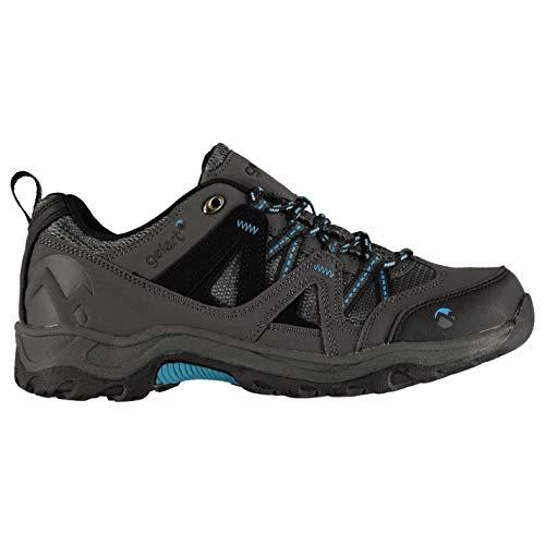 Gelert Kinder Ottawa Wanderschuhe Trekkingschuhe Outdoor Schuhe Schnuerschuhe Charcoal/Blue 4 (37)