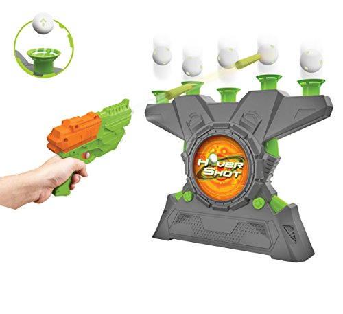 Merchant Ambassador Hover Shot 2.0 Game - air Powered Blaster, Foam Darts with Glow in The Dark Targets