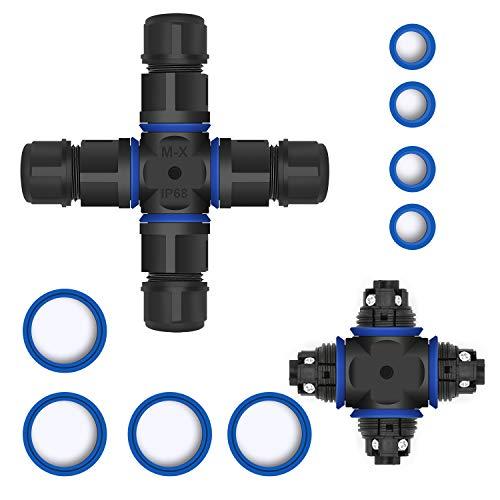 Kabelverbinder Wasserdicht IP68,Erdmuffe für erdkabel für Ø4-12 mm Kabeldurchmesser,Verbindungsmuffe Kabelverbinder,Verbinden verlängern Erdkabel reparieren Verbindungsmuffe