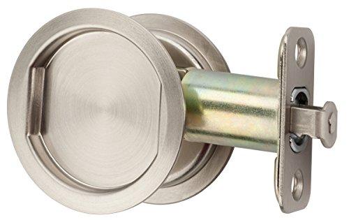 Citiloc Round Hall/Closet Passage Pocket Door Latch Satin Nickel