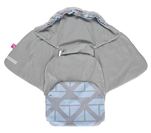 Baby Softshell inslagdeken voor babyschaal, autostoel, Maxi-Cosi, Romeinse en andere merken, ideaal voor kinderwagens, fietsaanhangers, buggy - schepen blauw