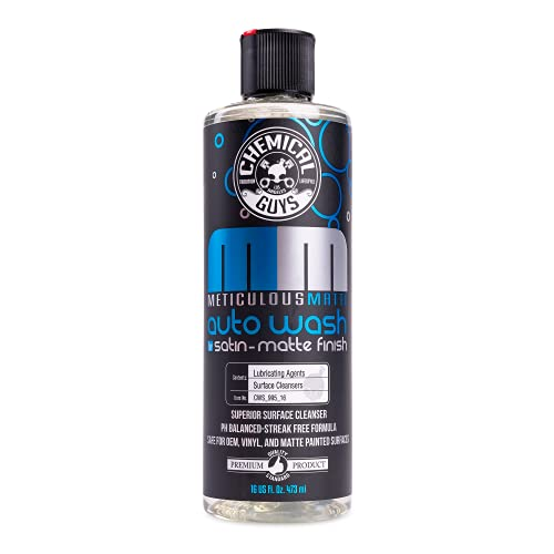 Chemical Guys CWS_995_16 Meticulous Matte Foaming Car Wash Soap for Satin & Matte Finish Paint (Works with Foam Cannons, Foam Guns or Bucket Washes), 16 oz., Fruity Bubble Gum Scent