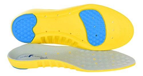 Sole Control Solette Ortopediche Sprint Sports per la Corsa, Cuscinetto al metatarso, Tallone, Fascite Plantare, Metatarsalgia, Periostite, Sostegni per Ginocchia (EU 35-37)