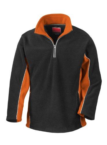 Result - Sweat Polaire Tech 3 Sport Col A Glissière Manche Longue Neuf - Noir/Orange, XL