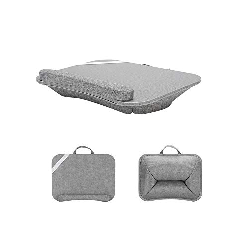 Laptop Stand With Cushion On Bed & Sofa, As Book Stand/Sleeping Pillow/Lap Desk With Cable Hole & Anti-Slip Strip, Lap Desk Bed Desk Computer Lap Tray -F2