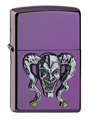 Zippo Joker Emblema + D802Mechero de Gasolina, latón, Aspecto de Acero Inoxidable, 1x 6x 6cm