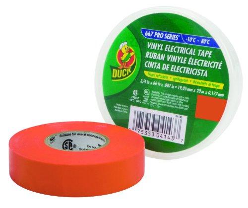 Duck Brand 667 Cinta eléctrica de la serie Pro: 3/4 in. x 66 ft. (naranja)