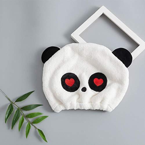 Coner Ronde Droog Haar Handdoek Panda Douchemuts Droog Haar Cap Kinderen Koraal Fluwelen Handdoek Cartoon Mooie Handdoek Heerlijk Droog Haar Handdoek, B