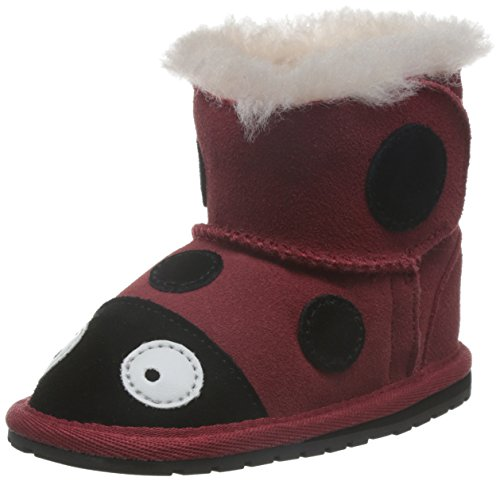 EMU Australia Lady Bird Walker Boot (Infant/Toddler),Red/Rouge,6-12 Months M US Infant
