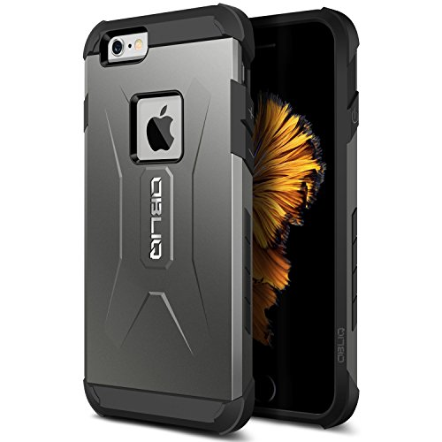 iPhone 6S Case, OBLIQ [Xtreme Pro][Gun Metal] Hybrid Rugged Dual Layered All-Around Shock Slim Resistant TPU Armor Shock Resistant Case for Apple iPhone 6S (2015) & iPhone 6 (2014)