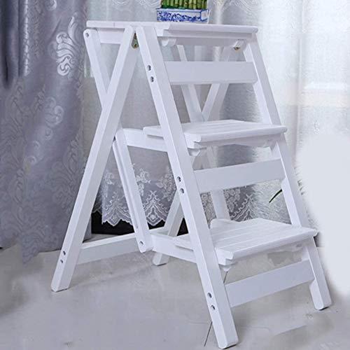 Taburete de la Etapa de Madera Maciza Plegable, la Escalera de la Cocina de la Cocina Sillas Simples Ahorre la Escalera de Espacio PEQUEÑA TABLO DE PEQUEÑO PEQUEÑO PEQUEÑO Banco DE TABOL (Color : B)