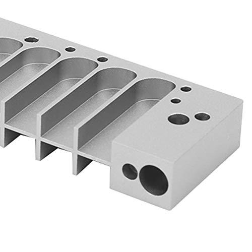 Accesorio de aleación de aluminio para armónica, peine de armónica de fácil mantenimiento, liviano que no se deforma para 270 placas de lengüeta Láminas de lengüeta LA12(Silver)