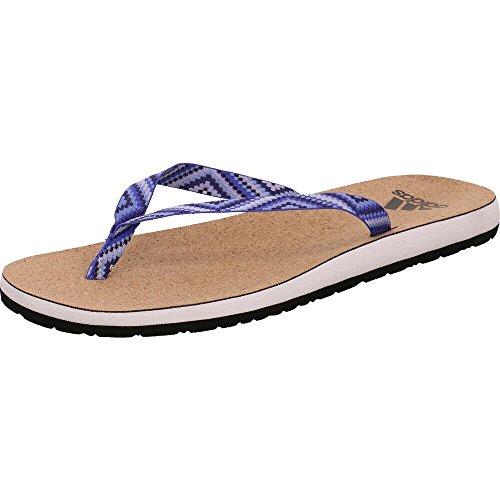 Adidas Eezay Cork Flip Flop, Zapatos de Playa y Piscina Mujer, Blanco (Ftwbla/Tinnob/Azucen 000), 38 EU