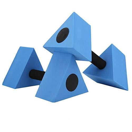 Keenso 2 Unids Triángulo Pesa Eva Pesas de Agua Pesas Piscina Ejercicio Barras de Agua Niños Natación Fitness Equipment(Azul)