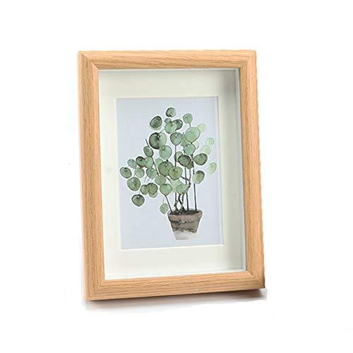 LKKCHER Marco de fotos de madera vintage de 7 pulgadas, marco de fotos para colocar o colgar, 15 x 20 cm