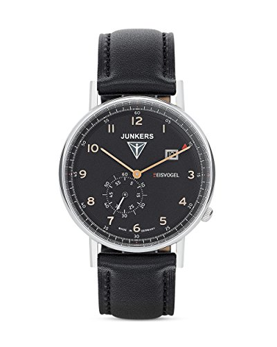 Junkers Herren Analog Quarz Uhr mit Leder Armband 67305
