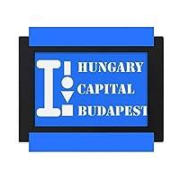 ハンガリー首都ブダペスト デスクトップフォトフレーム画像ブラックは、芸術絵画7 x 9インチ