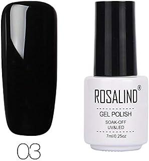 ROSALIND Esmalte semipermanente de uñas de gel de color puro para sellar esmalte de gel de capa top y base 7 ml