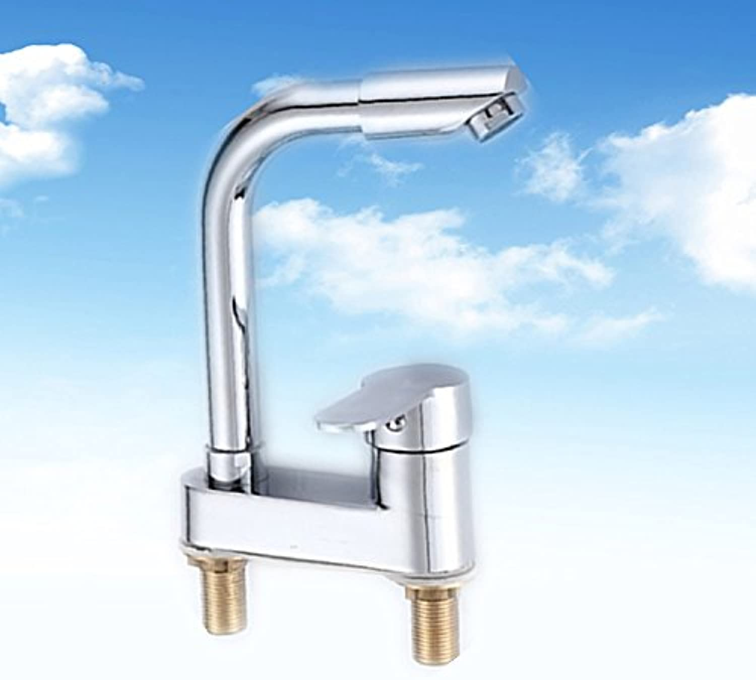 AJUNR-All Copper Wash-Basin Bathroom sink Tap Cold Water You Can redate The Mixer Double Hole Washbasin Bathroom sink Tap