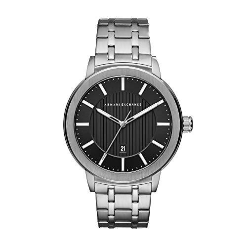 Emporio Armani Herren Analog Quarz Uhr mit Edelstahl Armband AX1455