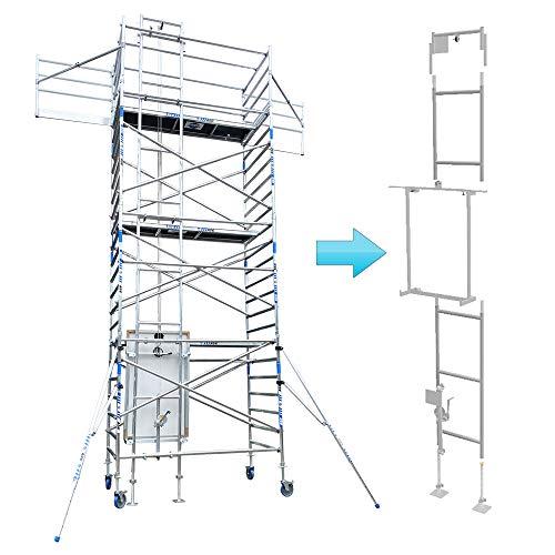 Alumexx Gerüst Seilzug - Seilwinde - Handbetrieb - Bis zu 60 kg Tragfähigkeit