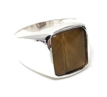KAR 925K Stamped Solid Sterling Silver Tiger s Eye Men s Ring P2G  7