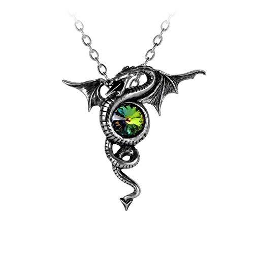 Gothic Drache Dragon Anhänger Drachen Amulett Talisman Halskette