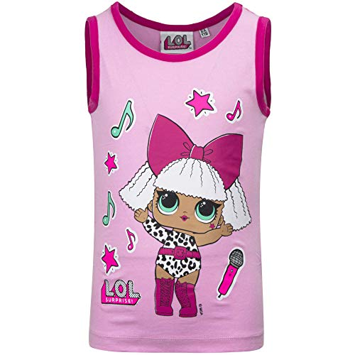 L.O.L. Surprise! – Camiseta sin mangas – Full Print – Niña – Producto original con licencia oficial 18_XXX 057 Rosa 3 Años-98 cm