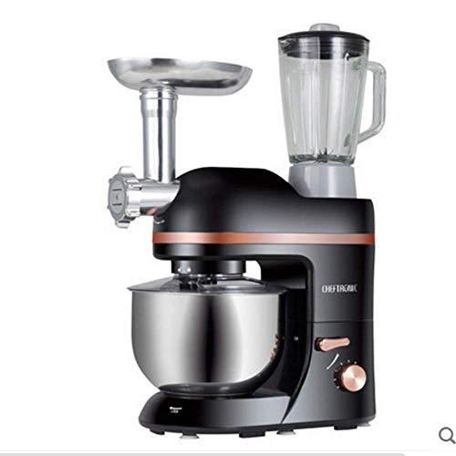 GPWDSN staande mixer, all in één keuken in wit 5 l roestvrij staal 1000 W Dough Assemblea Hook